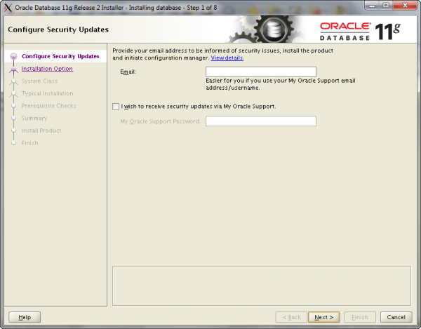 Oracle Install Step 1