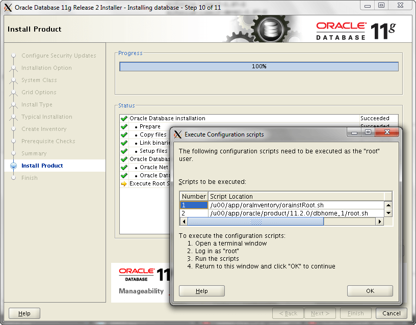 Oracle Install Step 10