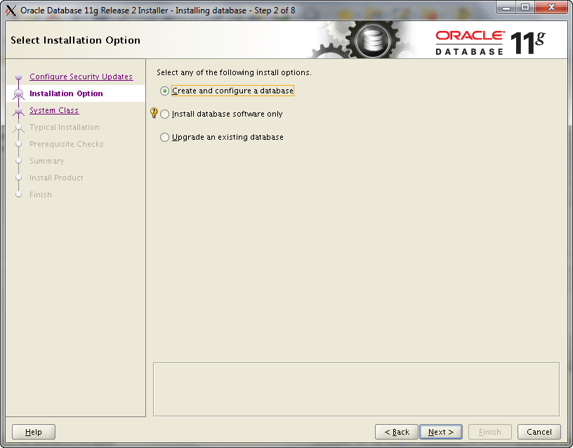 Oracle Install Step 2