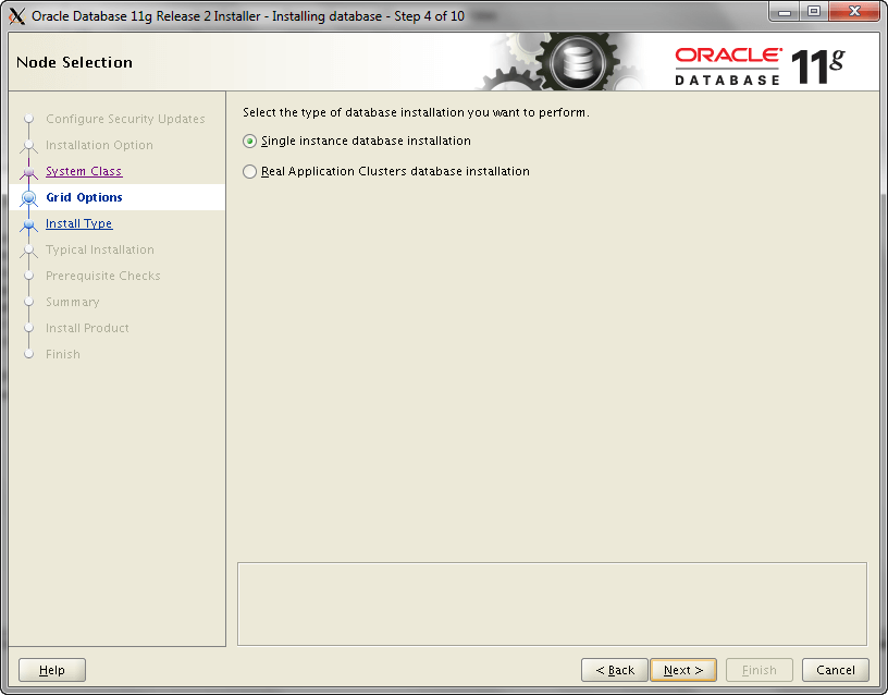 Oracle Install Step 4