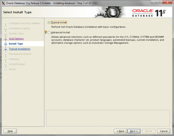 Oracle Install Step 5